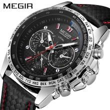Megir Heren Horloges Topmerk Luxe Quartz Horloge Mannen Mode Lichtgevende Leger Waterdichte Mannen Polshorloge Relogio Masculino 1010G
