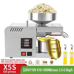 Image 1 - X5S LED Digital Oil Press Stainless Steel Temperature Control Coconut Kernel Oil Peanut Butter Olive Oil Press