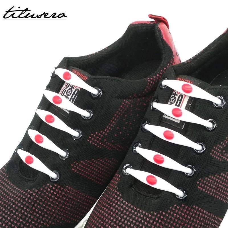 12pcs/lot Elastic Shoelaces Silicone Shoelace No Tie Shoe Laces For Adults/Kids Lacing Shoes Rubber Shoelace F003