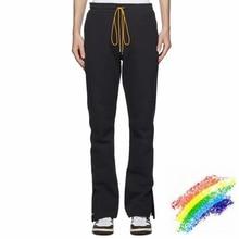 2021ss Rhude Pencil Pants Men Women 1:1 High Quality Rhude Pants Metal zipper Inside Tag Trousers