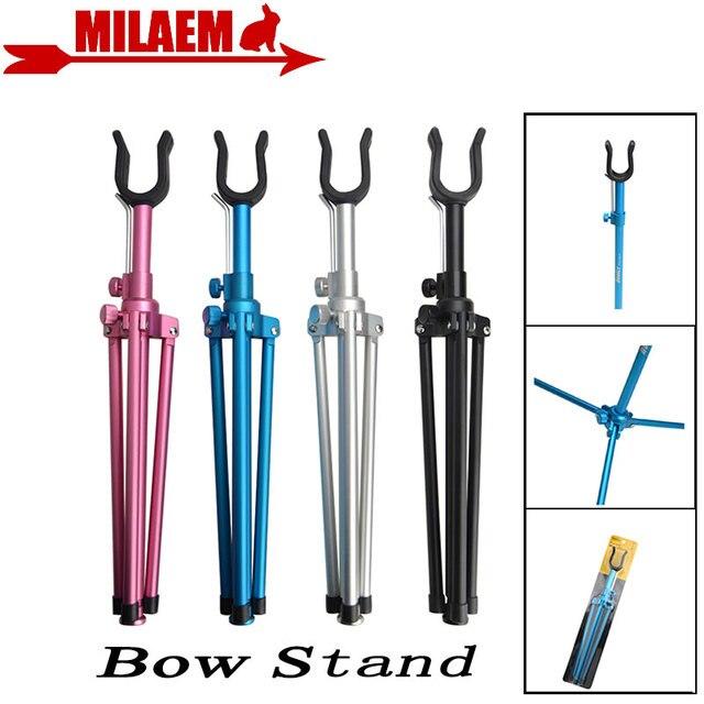 Tir à larc Recurve support darc en métal pur portable pliable Recurve support darc en plein air chasse tir à larc et flèche accessoires