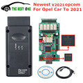 Новинка V2021 OPCOM для автомобилей Opel до 2021 года Opcom 2018 реальный FTDI PIC18F458 Op-com V1.95 инструмент для диагностики OBD2