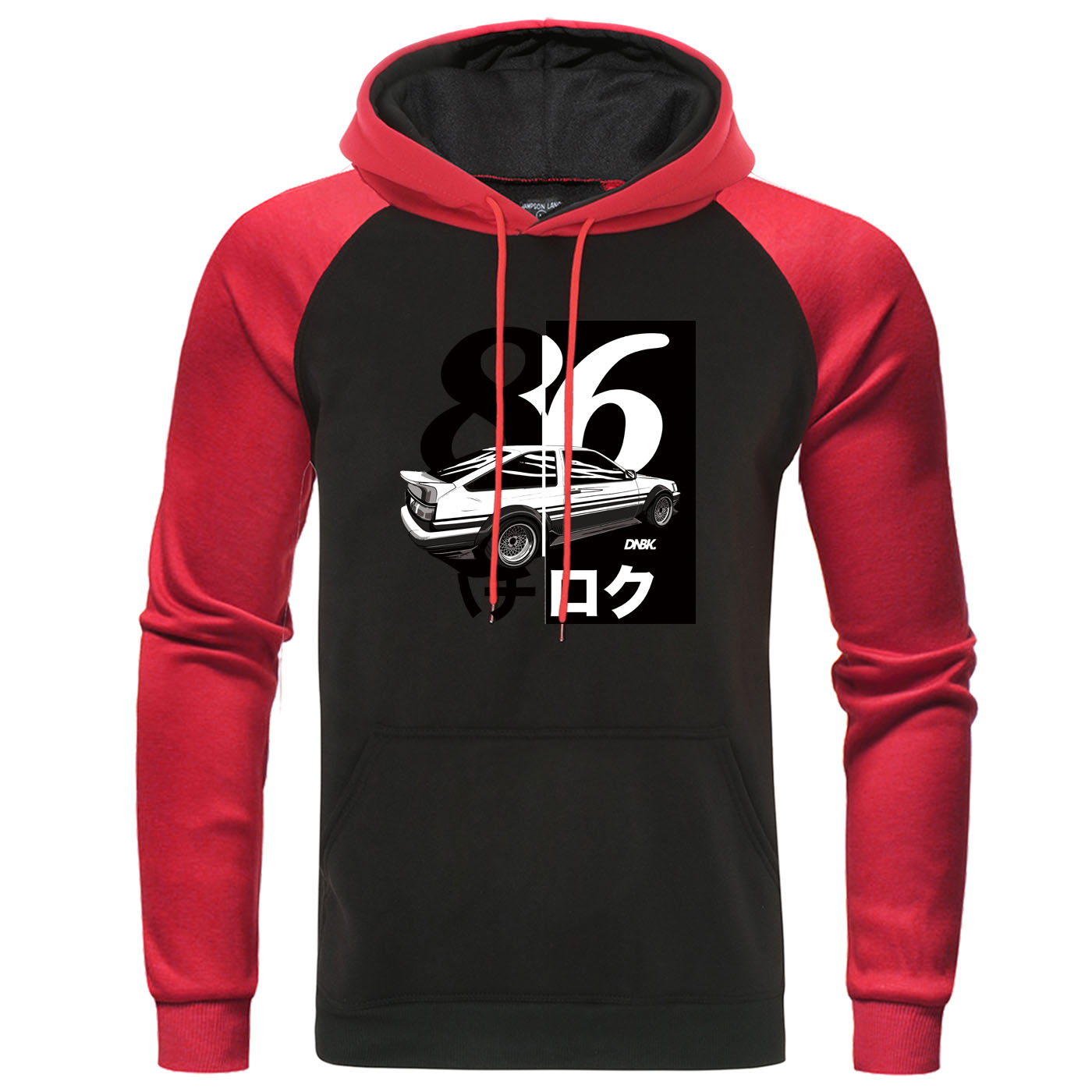 FTD Apparel Mens JDM R Built Pullover Hooded Sweater