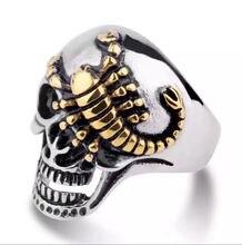 Кольцо мужское из нержавеющей стали с изображением золотого