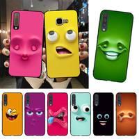 YNDFCNB 3D cara Coque caja del teléfono de la cáscara del teléfono para Samsung A51 A71 A40 A50 A70 A10 A20 A30 A6 A7 A8 A9