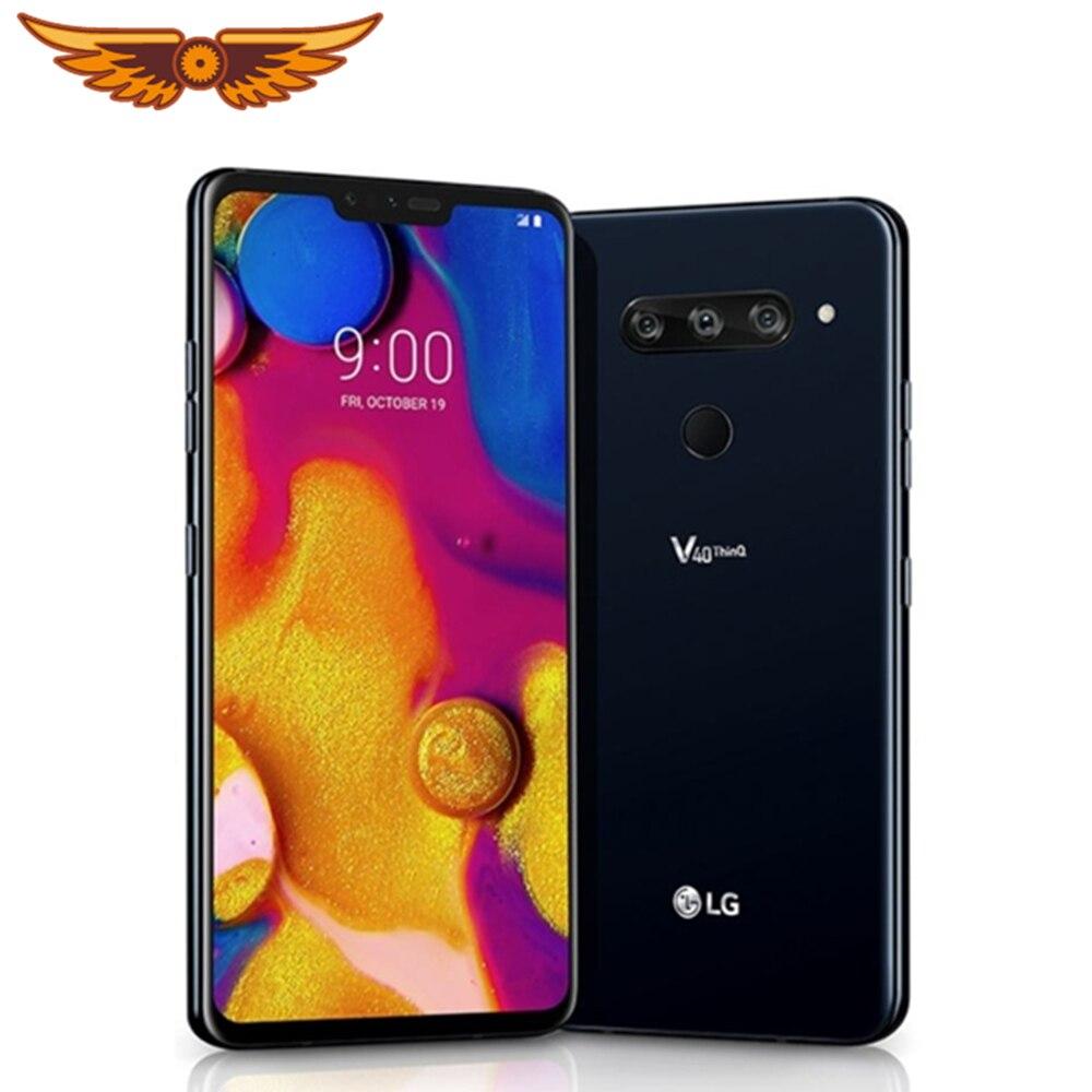 DHL Free Shipping Original LG V40 ThinQ 6.4 Inches V405UA 4GB RAM 64GB ROM 16MP Triple Camera LTE Single SIM Unlocked Cellphone Cellphones  - AliExpress