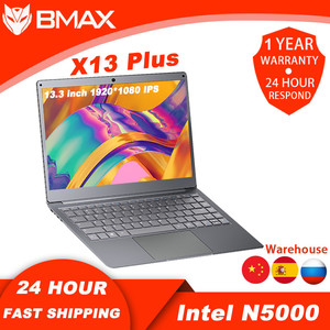 Bmax X13Plus 13,3 дюйма Intel Pentium N5000 4 ядра, 4 Гб Оперативная память 64 Гб номер ноутбук на Windows 10 с длинными Срок службы батареи