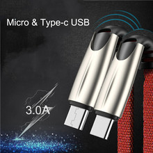 Oppselve 1m USB Type C Cable for Samsung Galaxy S10 S9 Plus Fast Charging Micro Xiaomi Redmi Tablet Android