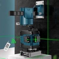 12 Line Green Laser Affixing Instrument Level High Precision Flat Water Meter Glare Floor Tile Leveling Instrument Leveling Inst