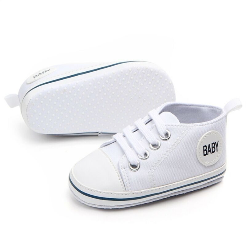 2020 Baby First Walkers Cute Newborn Kid Canvas Sneakers Baby Boy Girl Soft Sole Crib Shoes Pre Walkers 3