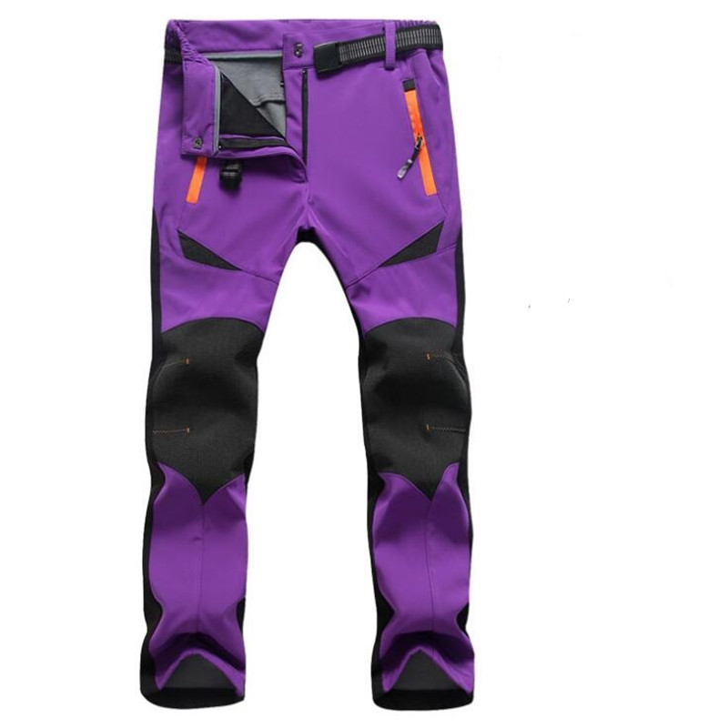 Casual Stretch Thick Warm Pants Women Winter Snow Waterproof Fleece Softshell Trousers Women Sweatpants Tactical Thermal Pants