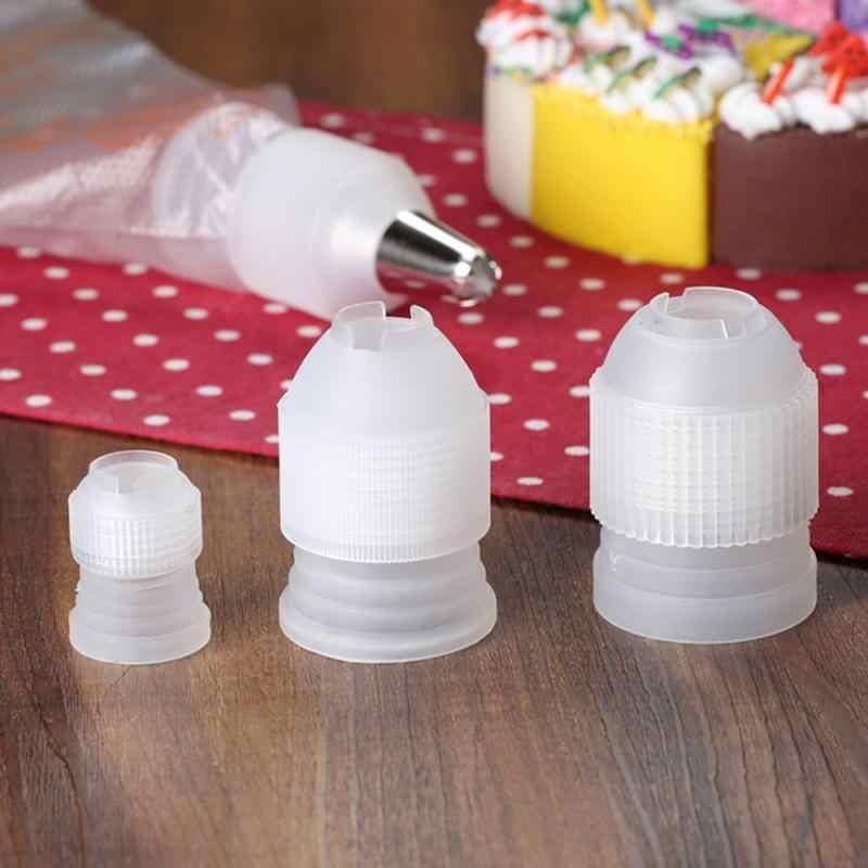 พลาสติกตกแต่งปากแปลงอะแดปเตอร์ขนม Pastry Tips ขั้วต่อหัวฉีดชุดเค้กตกแต่งเครื่องมือ Baking Bakeware