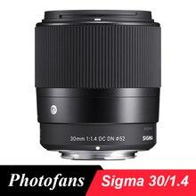 Sigma lentes contemporâneas, 30mm f1.4 dc dn para sony e a5000 a6000 a6300 a6500