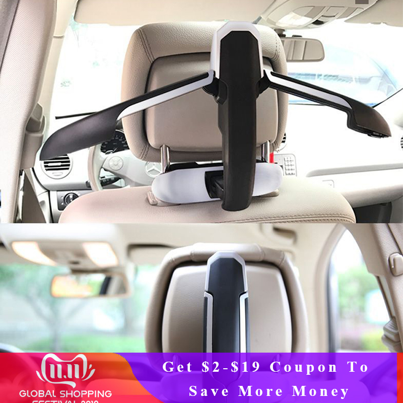 Top Quality Car Safety Hanger For Coat Jacket Suit Car Coat Hanger Back Seat Headrest Clothes Hanger Safety Handle Hanging Hook