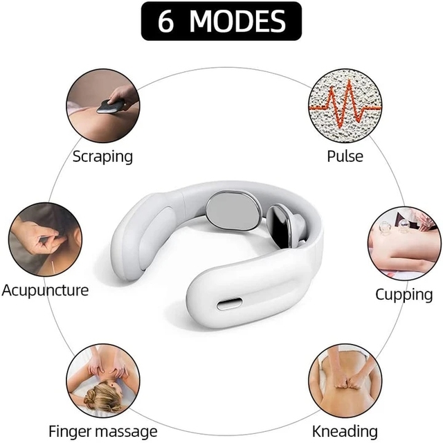 Remote Smart Neck and Shoulder Massager Electric Pain Relief Tool Health Care Relaxation Cervical Vertebra Physiotherapy 4