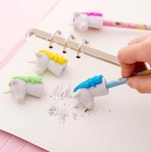 Unicorn Pencil Eraser Pen Extender Cap Cartoon Creative Rubber Kawaii Animal School Stationery