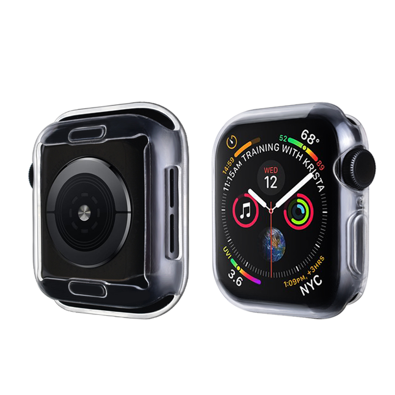 Cover for Apple watch 5 4 case 44mm 40mm iWatch case 42mm 38mm Full TPU Screen Protector bumper Apple Watch band accessories