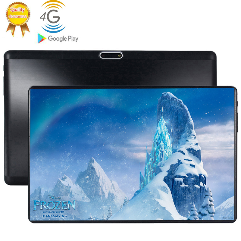 2.5D Multi-touch Glass Screen 10.1 Inch Tablet Octa Core 4G FDD LTE Tablet 6GB RAM 128GB ROM Dual Cameras Android 9.0 Tablet 10