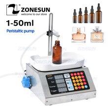 ZONESUN 0-50 мл маленькая автоматическая машина для наполнения жидкостей с ЧПУ 110 V-220 V машина для взвешивания духов для перорального жидкого раствора