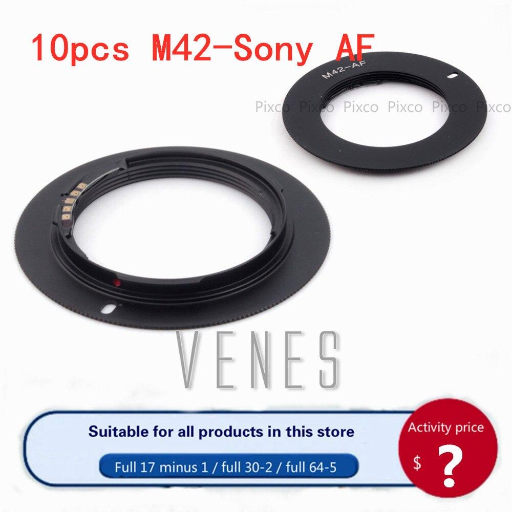 Venes 10 pcs/lot AF confirmer adaptateur pour M42-Sony, pour M42 vis monture objectif à Sony Alpha Minolta MA caméra noir