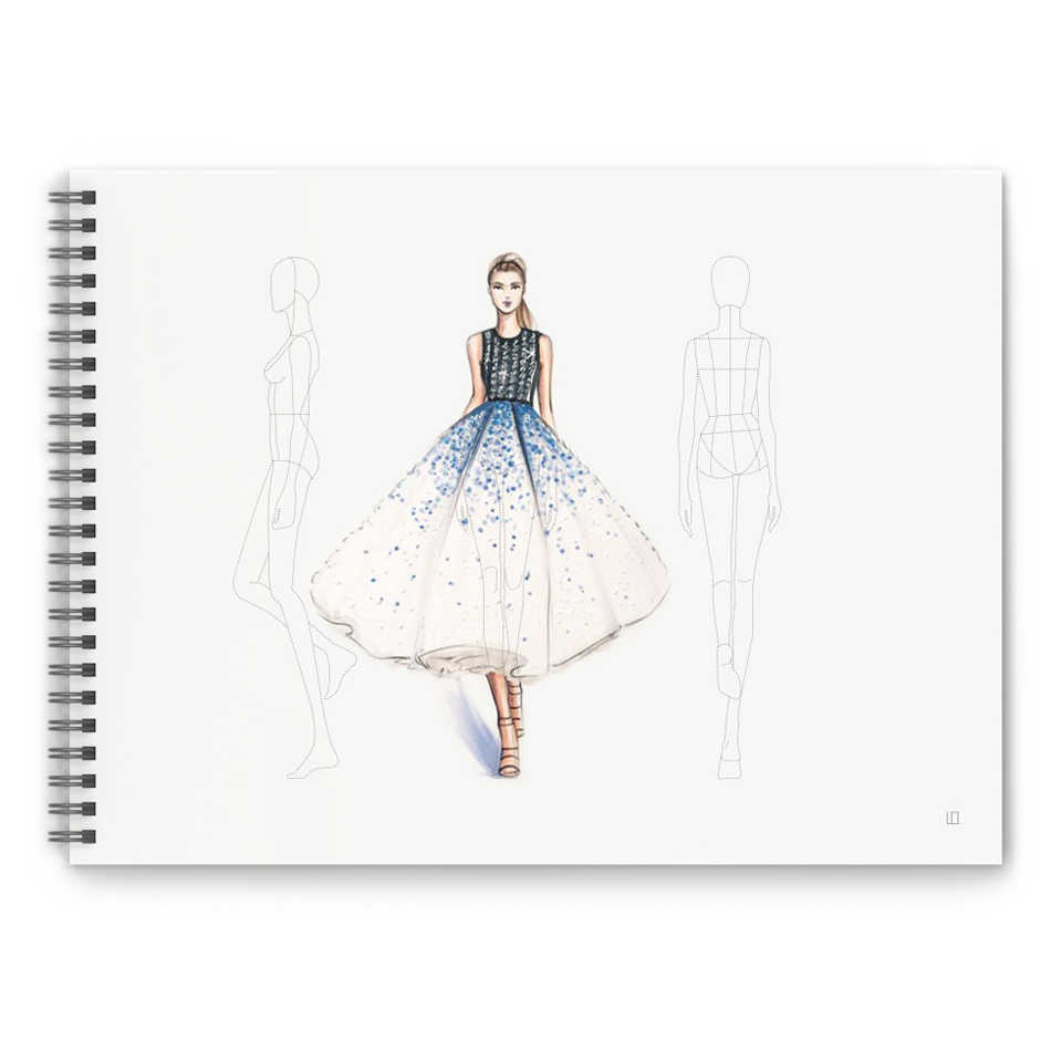 A4 Women Fashion Sketch Book Outline Template Women Wear Fashion Illustration Templates Front Back Side Figure 50 Sheets Paper Aliexpress