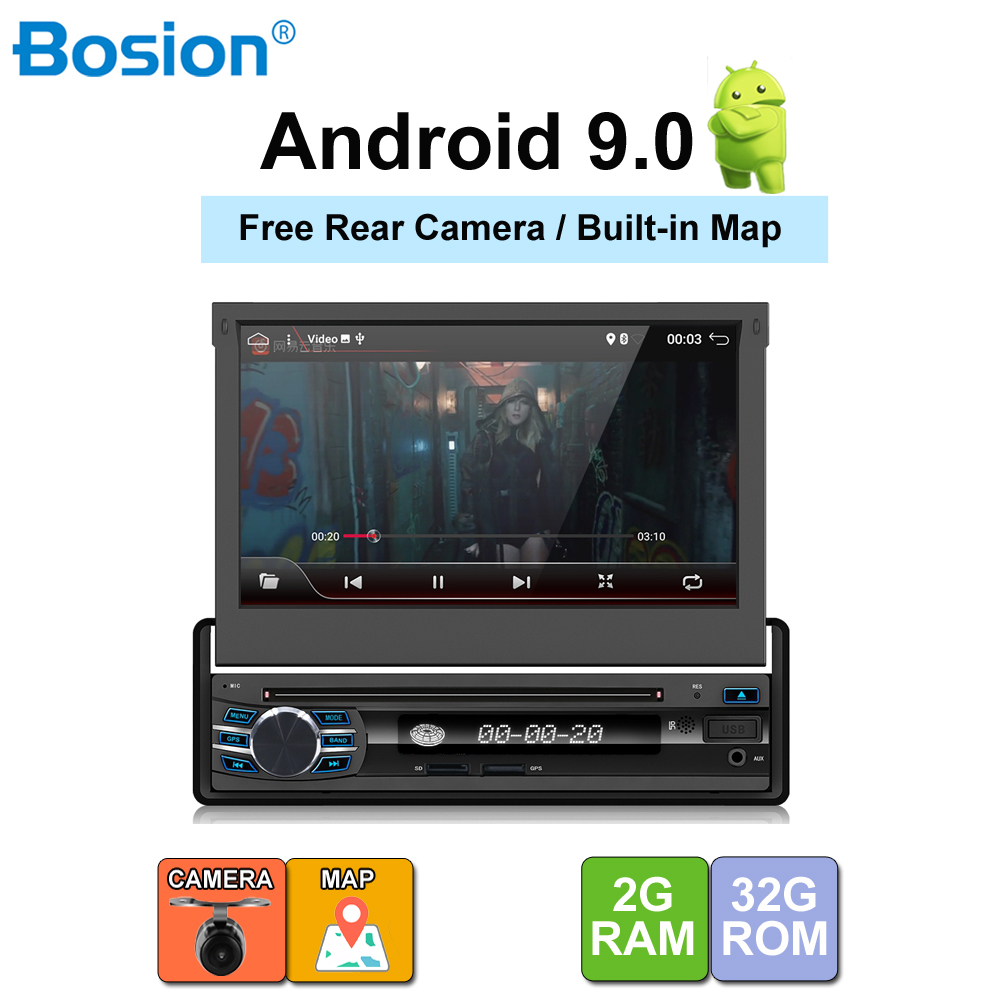 <font><b>1din</b></font> <font><b>android</b></font> 9.0 Car Audio <font><b>DVD</b></font> Player+Radio+GPS Navigation+<font><b>Autoradio</b></font> steering-wheel gps navigation 2din radio tape recorder wifi image