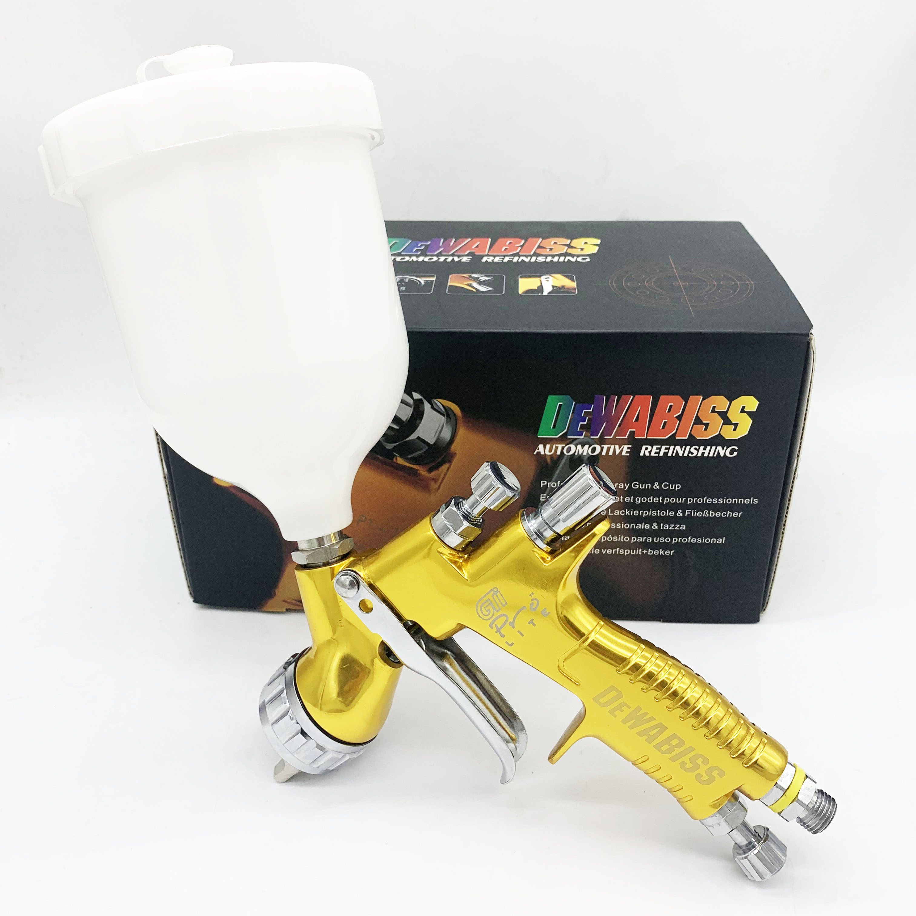 I AM Factory GTI Pro Spray Paint Gun 1.3/1.8MM High Quality Professional TE20/T110 Airbrush Car Airless Painting Water Based