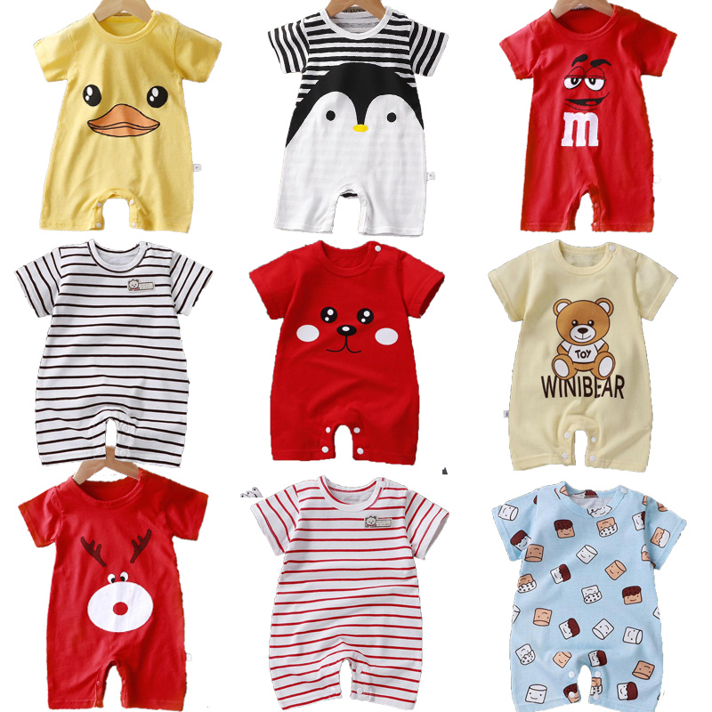 Summer Baby Rompers Boys Girls Jumpsuits Newborn Short sleeve Baby Climbing Clothes Baby Romper Infant Costumes Pajamas