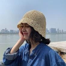 Шляпа от солнца соломенная шляпа ручной работы женская летняя