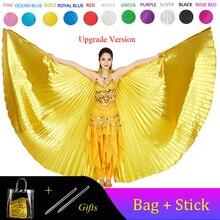 Alas de Isis para danza del vientre, accesorio para danza del vientre, Bollywood Oriental, Egipto, disfraz de alas egipcias con palos, mujeres adultas doradas, 2020