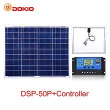 Dokio 50W Polycrystalline הסיליקון פנל סולארי סין 18V 530x660x25MM גודל פנל סולארי Paneles solares סין # DSP 50P