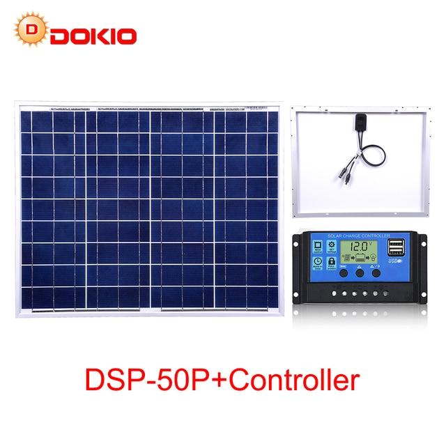 Dokio 50W Polycrystalline Silicon Solar Panel China 18V 530x660x25MM Size Panel Solar Paneles solares China #DSP 50P