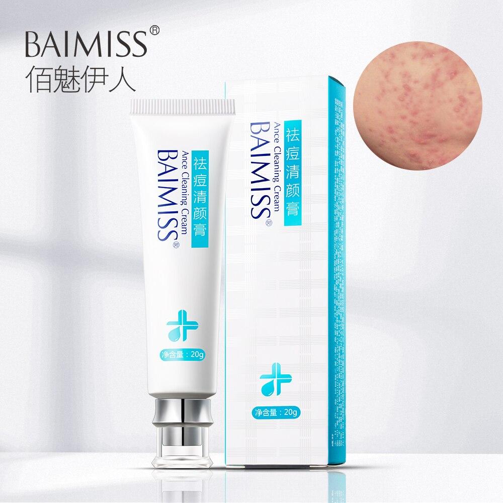 BAIMISS Acne Treatment Cream Anti Acne Remover Facial Skin Care Repair Comedone Pimple Quickly Natural Herbal Remove Scar Gel
