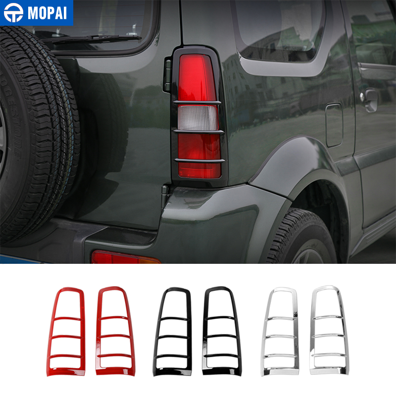 MOPAI รถหลอดไฟสำหรับ Suzuki Jimny 2007 ABS ด้านหลังไฟท้าย Guards สำหรับ Suzuki Jimny อุปกรณ์เสริม