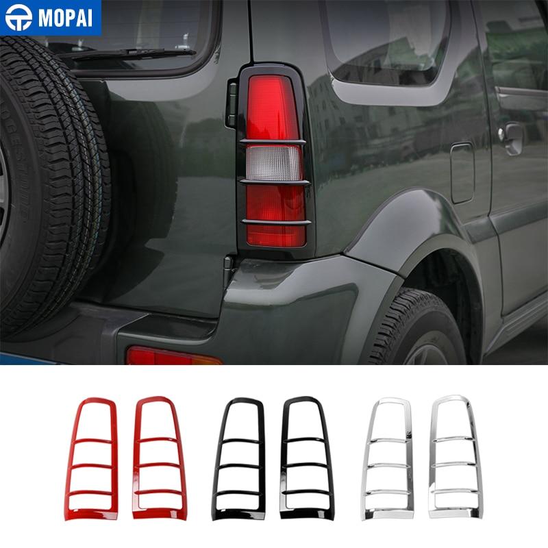 MOPAI Auto Lampe Hauben für für Suzuki Jimny 2007 ABS Auto Hinten Schwanz Licht Lampe Wachen für Suzuki Jimny Zubehör
