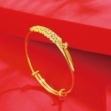 MxGxFam Свадебные ювелирные изделия Феникс браслеты и браслеты для невесты для женщин Чистый золотой цвет