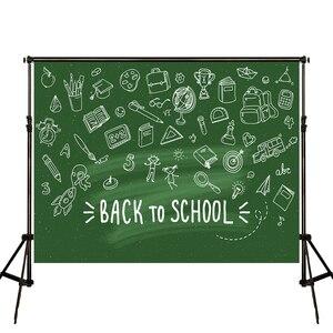 Image 2 - VinylBDS Green Screen Back To School Season Photography Backgrounds Blackboard  School Photo Backdrop Children Studio Backdrop