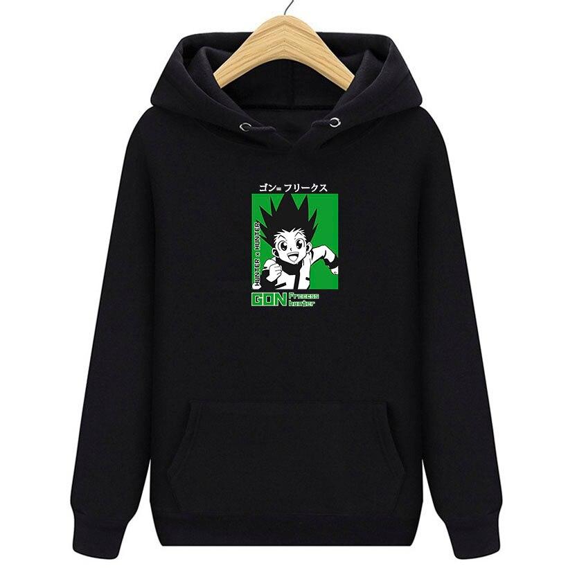 Толстовка мужская с длинным рукавом, аниме Hunter X Hunter, свитер с капюшоном, пуловер, подарок для мужчин