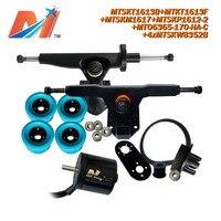 Maytech (9pcs) dc 모터 풀리 6365 170KV 및 모터 휠 오버 보드 트럭 및 diy-전기 스케이트 보드 키트 pu 바퀴
