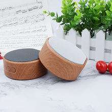 Mini Wood Grain Audio TF Card Sound Box Multi-function Wireless Bluetooth 4.2 AUX 600mAh Battery Speaker