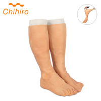 Silicone Prosthesis Foot Sleeve High Simulation Skin Artificial Silicone Prosthetic Leg Feet Legging Cover Scars Fake Leg Feet