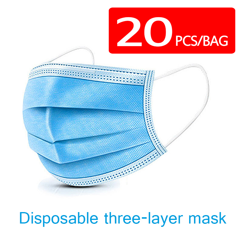 Disposable 3ply Mask Dust-proof Anti-smoke Anti-Virus Covid 19 Efficient Filtering Mouth Mascarillas Anti-cold Mascherine Ffp2 3
