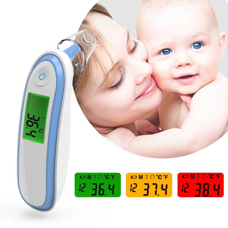 BOXYM Familiar Médica Febre Termômetro Digital Adulto Bebê Não-contato Do Laser Infravermelho Corpo Temperatura Termômetro de Ouvido CE FDA