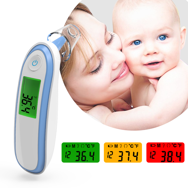 BOXYM Medical Household Infrared Fever Thermometer Digital Baby Adult  Non-contact Laser Body Temperature Ear Thermometer CE FDA
