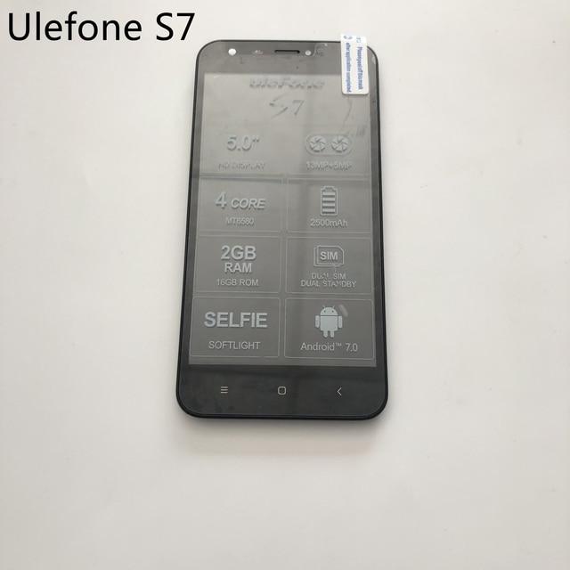 Ulefone S7 Gebruikt Lcd scherm + Touch Screen + Frame Voor MTK6580 Quad Core 5.0 Inch Hd 1280X720 Smartphone
