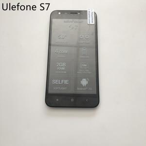 Image 1 - Ulefone S7 تستخدم شاشة الكريستال السائل شاشة تعمل باللمس الإطار ل MTK6580 رباعية النواة 5.0 بوصة HD 1280x720 الهاتف الذكي