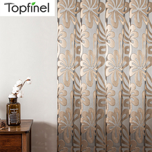 Tulle Curtains Geometric Sheer Curtain Panels for Living Room Bedroom For The Kitchen Tulle Jacquard Curtains  For Window Decor