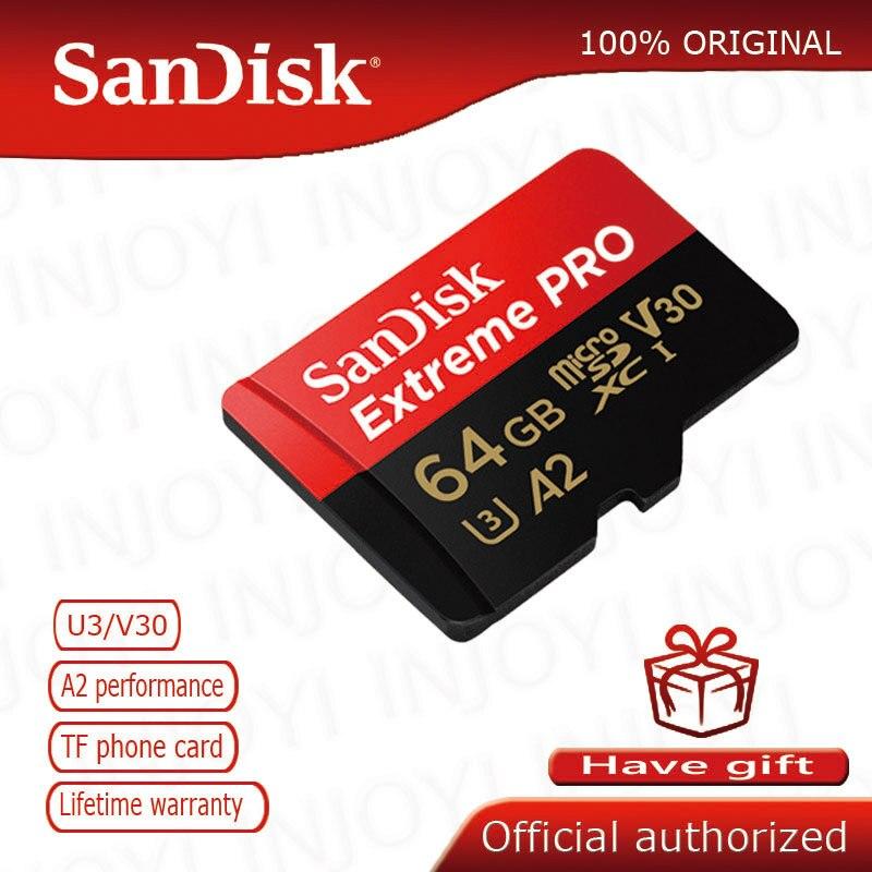 Original SanDisk Extreme Pro microsd UHS-I Speicher Karte micro SD Karte TF Karte 95 MB/s 16GB 32GB 64GB Class10 U3 cartao de memoria