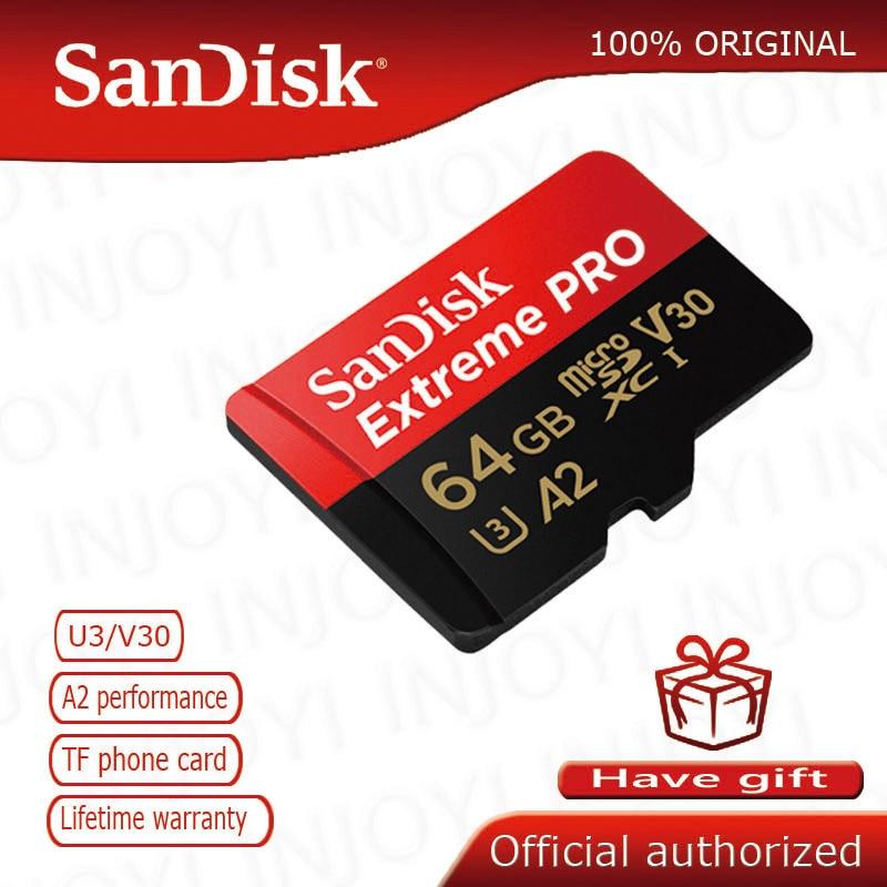 Original SanDisk Extreme Pro microsd UHS-I tarjeta de memoria tarjeta micro SD TF Tarjeta de 95 MB/s 16GB 32GB 64GB Class10 U3 cartao de memoria