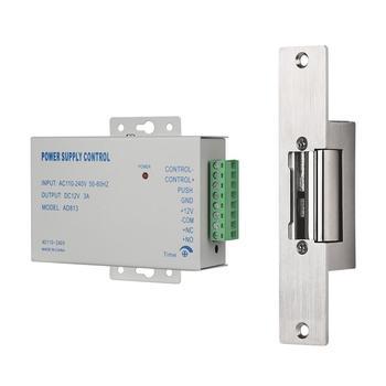 TMEZON Electric Strike Lock wąski typ elektryczny zamek do drzwi z kontrolą zasilania dla różnych drzwi tryb NC Fail Safe Access tanie i dobre opinie CN (pochodzenie) MZ-L02